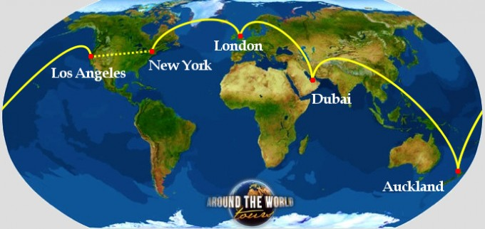 from europe to dubai, nz and usa
