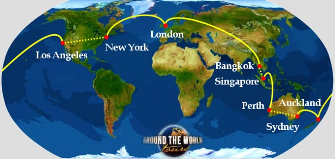 students round the world tour