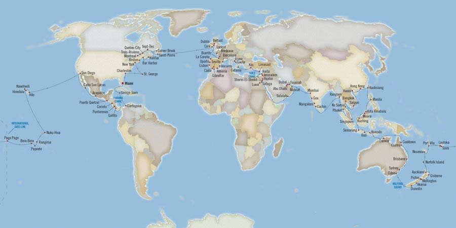 Itinerary-Cruise-Around-World